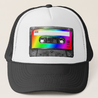 Rainbow Cassette Tape Trucker Hat