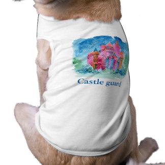 Rainbow castle fantasy watercolor illustration T-Shirt