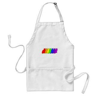 Rainbow Cat Adult Apron