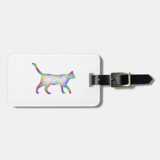Rainbow cat bag tag