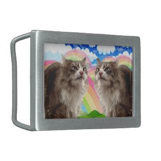 Rainbow Cat Belt Buckle