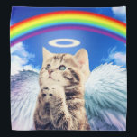 "rainbow cat - cat praying - cat - cute cats bandana<br><div class=""desc"">cat , rainbow , angel , kitty , pet , ""rainbow cat"" , ""angel cat"" , ""cat praying"" , heaven, pussy , cats , funny , cute , kittens , puppy , meow , ""cute cat"" , ""funny cat "", feline , ""cat meme"" , lovable , ""kitty cat"" , ""grey...</div>"