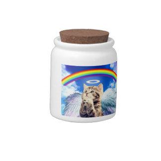 rainbow cat - cat praying - cat - cute cats candy jar