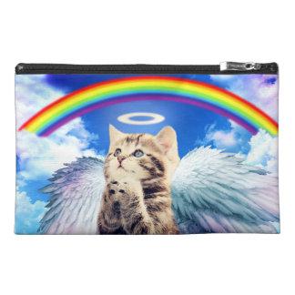 rainbow cat - cat praying - cat - cute cats travel accessory bag