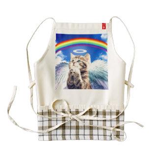 rainbow cat - cat praying - cat - cute cats zazzle HEART apron