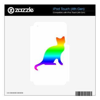 Rainbow Cat Decal For iPod Touch 4G