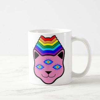 Rainbow Cat Face Coffee Mug