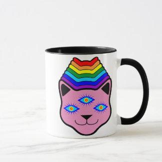 Rainbow Cat Face Mug