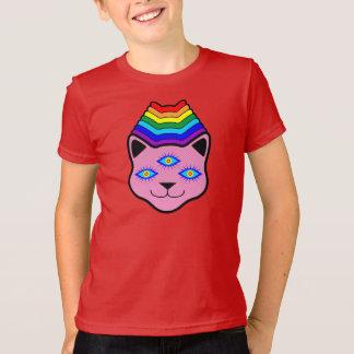 Rainbow Cat Face T-Shirt