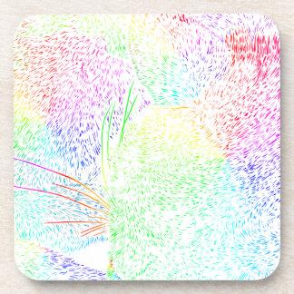 Rainbow Cat Fur Coaster