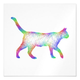 Rainbow cat magnetic card