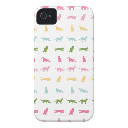 Rainbow Cat Pattern Case-Mate iPhone 4 Cases