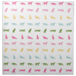 Rainbow Cat Pattern Cloth Napkins