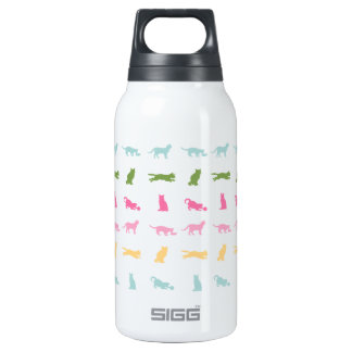 Rainbow Cat Pattern Insulated Water Bottle