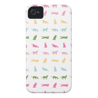 Rainbow Cat Pattern iPhone 4 Case-Mate Case