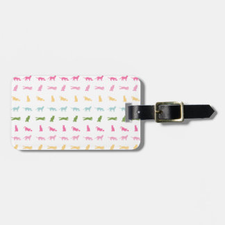 Rainbow Cat Pattern Bag Tags