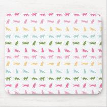 Rainbow Cat Pattern Mouse Pad