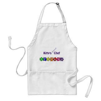 rainbow cat print adult apron