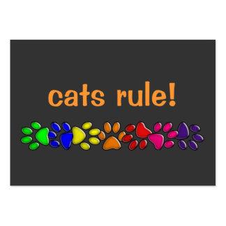 rainbow cat print large business card