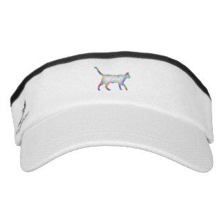 Rainbow cat visor
