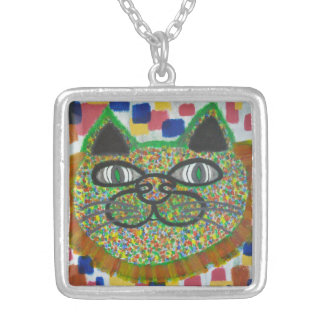 Rainbow Cat With Lion's Mane Art On Necklace