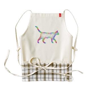 Rainbow cat zazzle HEART apron