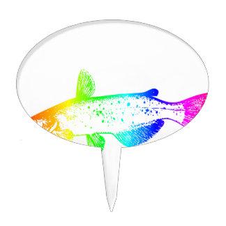 Rainbow Catfish Cake Topper