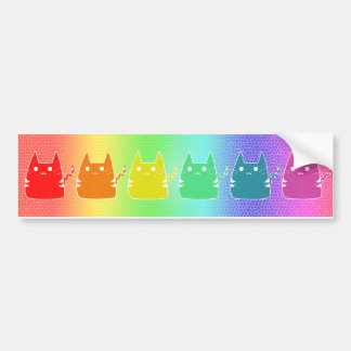 Rainbow Cats Bumper Sticker