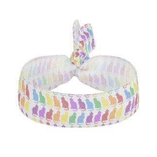 Rainbow cats elastic hair tie