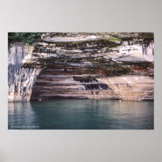 Rainbow Cave Pictured Rocks Michigan Munising Poster