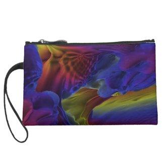 Rainbow Caves Fractal Cosmetic Bag