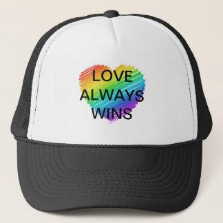 Rainbow Celebrate Love Wins Equality Love Trucker Hat