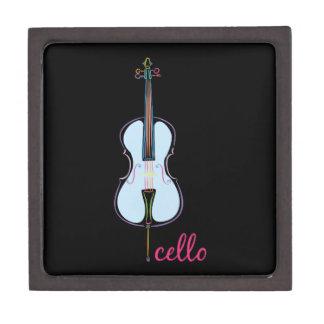 Rainbow Cello Jewelry Box