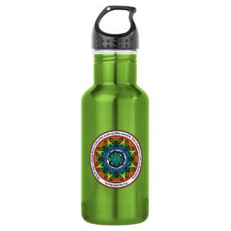 Rainbow Celtic Butterfly Mandala Water Bottle