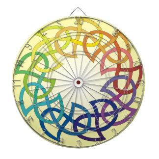 Rainbow Celtic Knot Dart Board