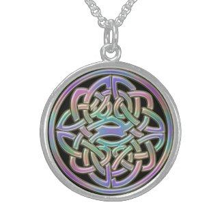 Rainbow Celtic Knot Necklace