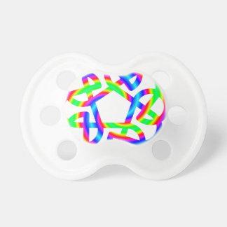 Rainbow Celtic Knot Pacifier