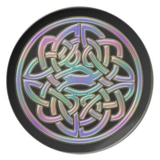 Rainbow Celtic Knot Plate