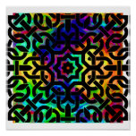 Rainbow Celtic Knot Poster