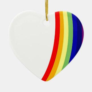 Rainbow Ceramic Ornament