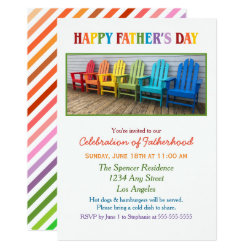 Rainbow Chairs Father's Day Celebration Invitation