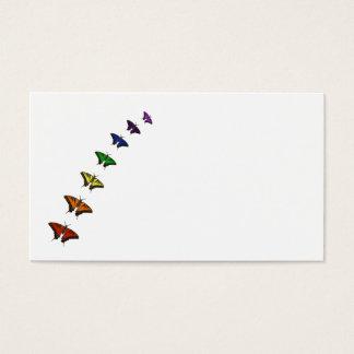 Rainbow chakra butterflies business card