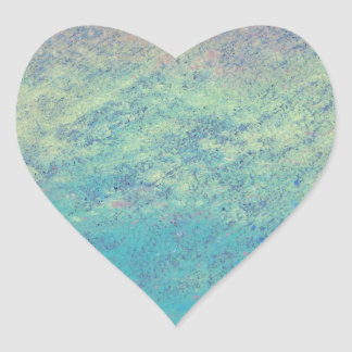 Rainbow Chalk Art Heart Sticker