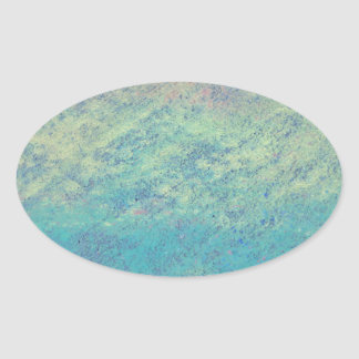Rainbow Chalk Art Oval Sticker