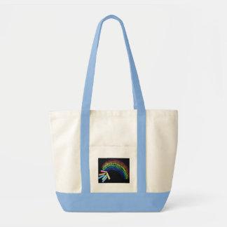 Rainbow Chalk Tote Bag