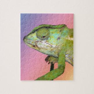 Rainbow chameleon jigsaw puzzle