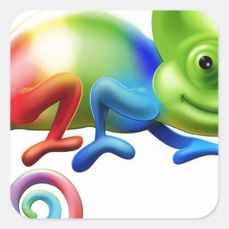 Rainbow chameleon sticker