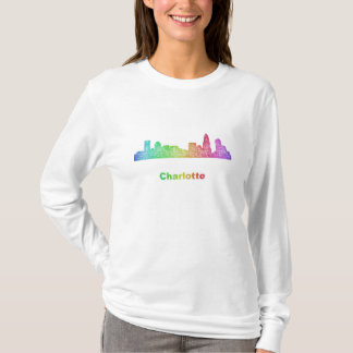 Rainbow Charlotte skyline T-Shirt