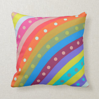 Rainbow Chaser. Bright vibrant and colourful. Throw Pillow