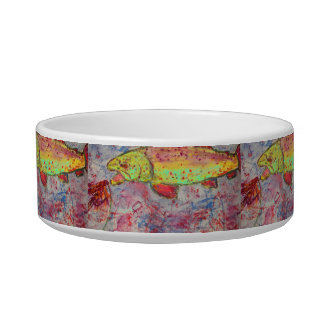 rainbow chasing fly cat bowls